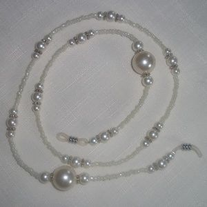 Pearl Bead Eyeglass Necklace